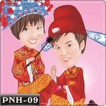 Q版人像繪圖情侶Q版繪圖情侶Q版繪圖PNH-09